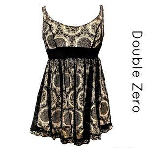 DOUBLE ZERO Black Lace Dress